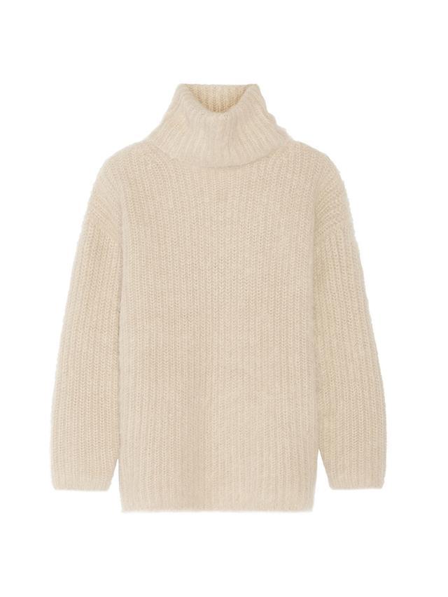 Helmut Lang Angora-Blend Turtleneck Sweater