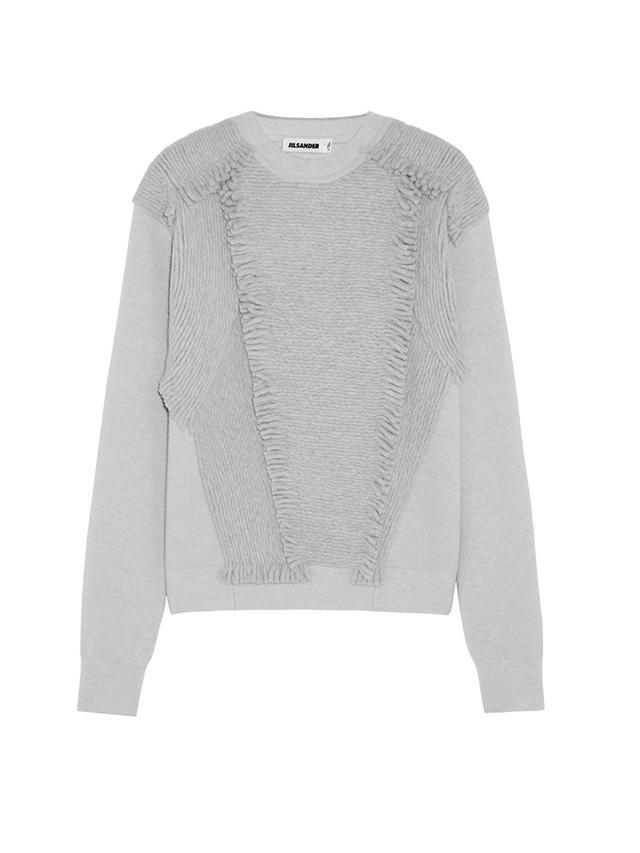 Jil Sander Fringed Stretch-Cashmere Sweater