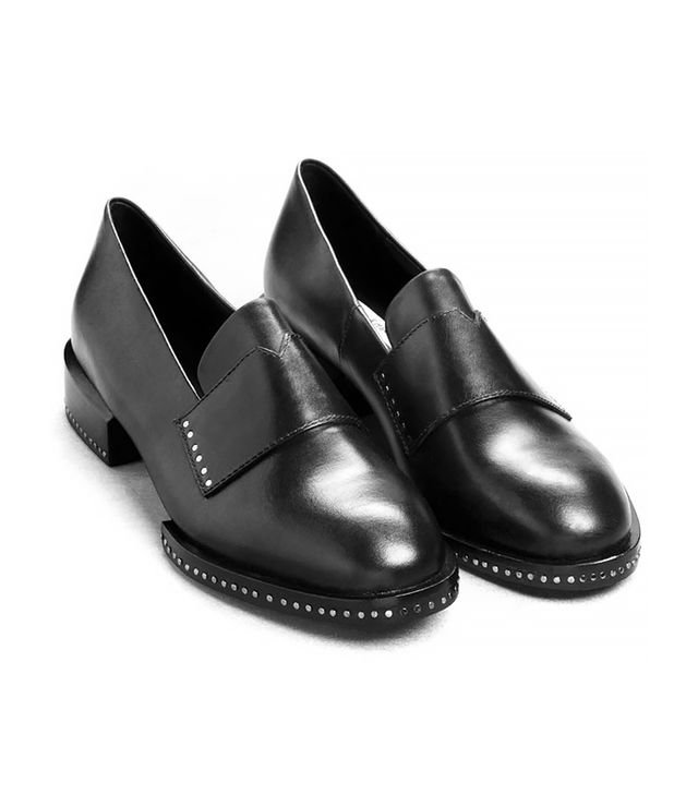 & Other Stories Studded Leather Loafers