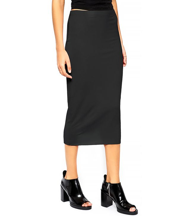 ASOS Pencil Skirt in Double Layer Jersey