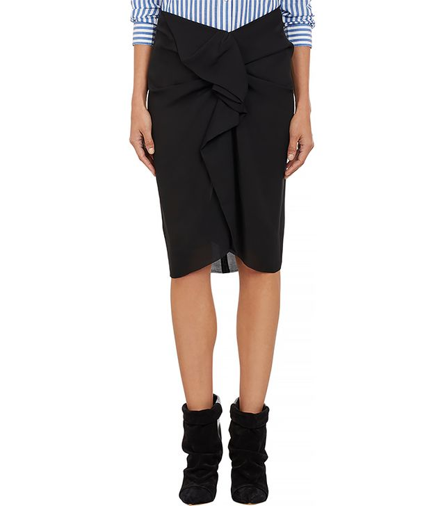 Isabel Marant Draped Georgette Huston Skirt
