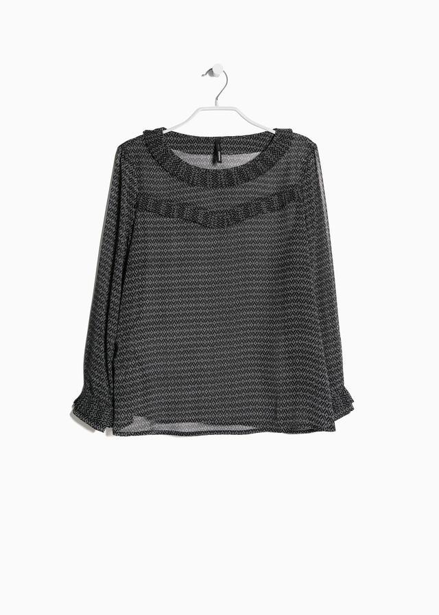 Mango Trimmed ethnic blouse