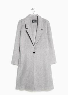 Mango Long mohair-blend coat