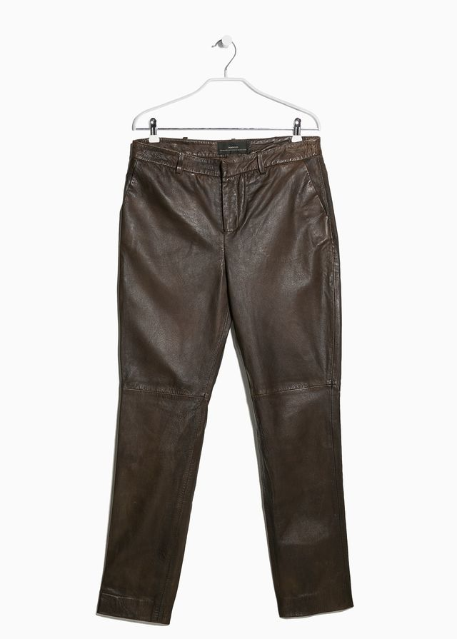 Mango Leather trousers