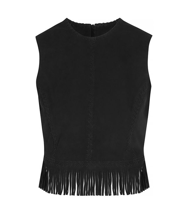 Tamara Mellon Fringed Suede Crop Top