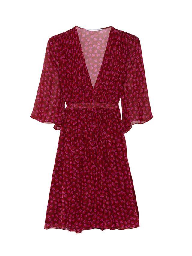 Diane Von Furstenberg Alicia Printed Chiffon Dress