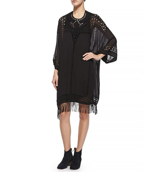 Étoile Isabel Marant Enery Cutout Fringe Trimmed Dress