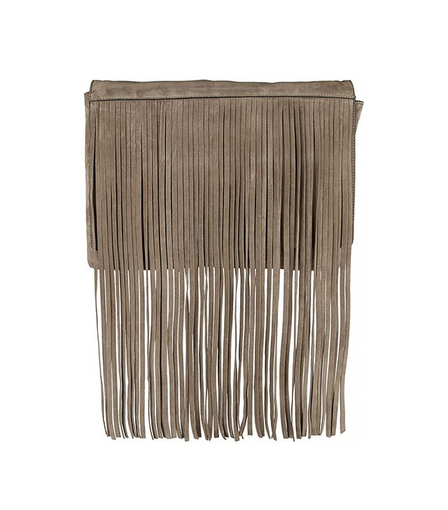 Michael Kors Joni Fringed Suede Clutch