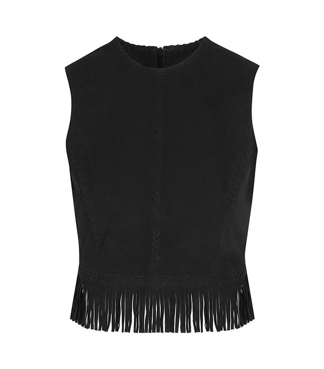 Tamara Mellon Fringed Suede Cropped Top