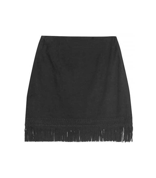 Tamara Mellon Fringed Suede Mini Skirt