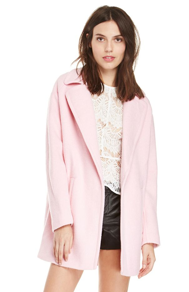 JOA Oversized Lapel Coat