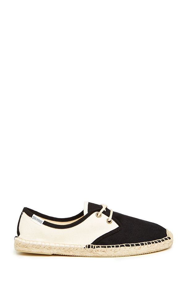 Soludos Color Block Lace Up Espadrille