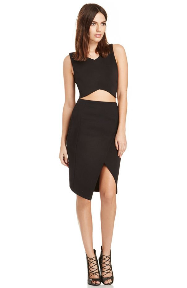 DailyLook Structured Wrap Skirt