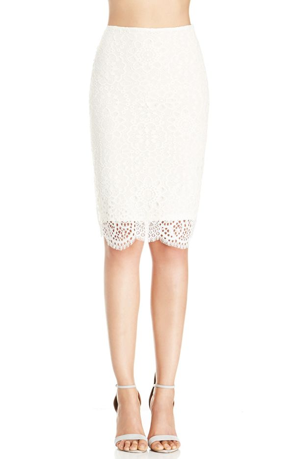 For Love & Lemons Holly Pencil Slip Skirt