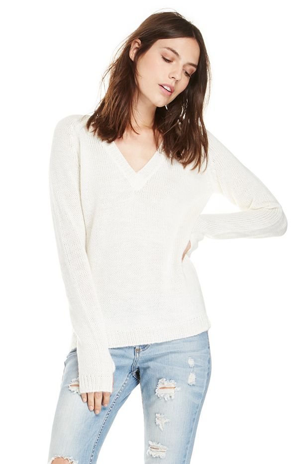 One Teaspoon Snug Knit V-Neck Sweater