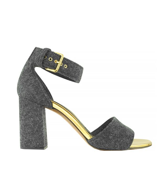 Marni Antracite Felt Ankle Strap Sandals