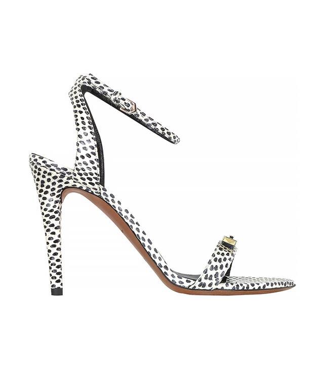 Proenza Scouler Polkadots Print Elaphe High Heel Sandals