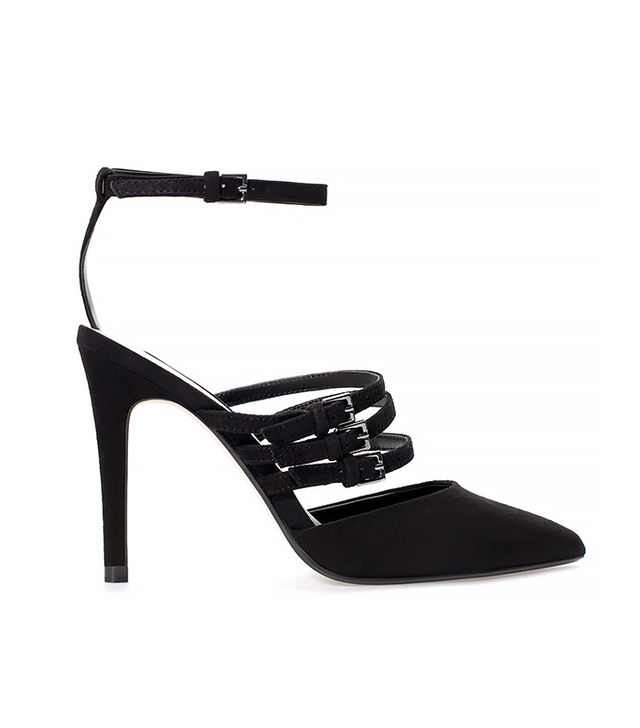 Zara Leather Court Shoe with Straps