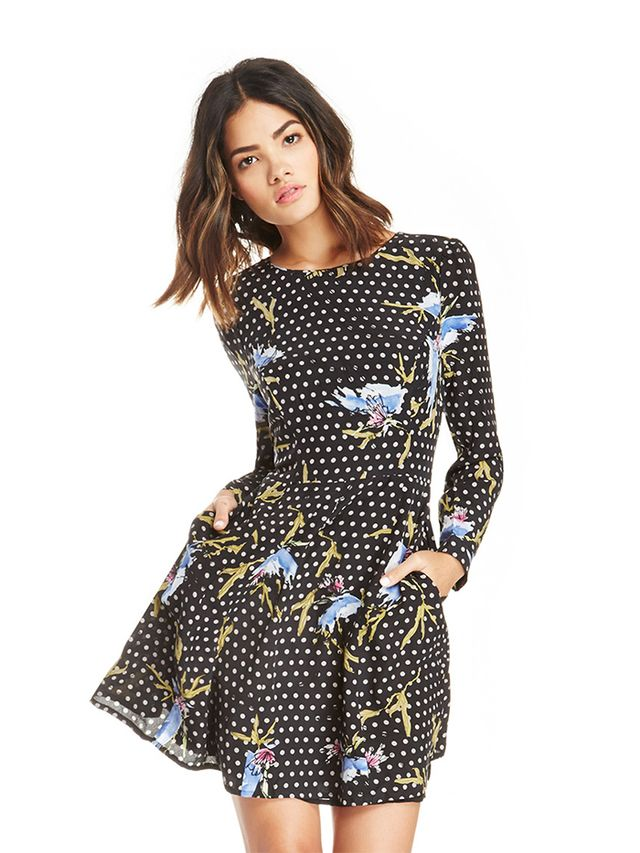 Harlyn Floral Long Sleeve Fit & Flare Dress