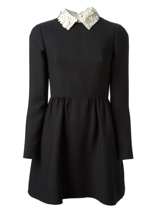 Valentino Floral Collar Dress