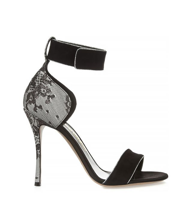 Nicholas Kirkwood Suede, Lace and Satin Sandals