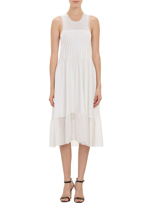Thakoon Articulated Rib Panel Fit-and-Flare Dress