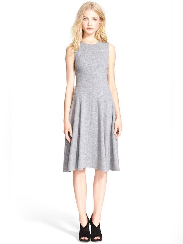 L'Agence Seamed Wool Jersey Dress