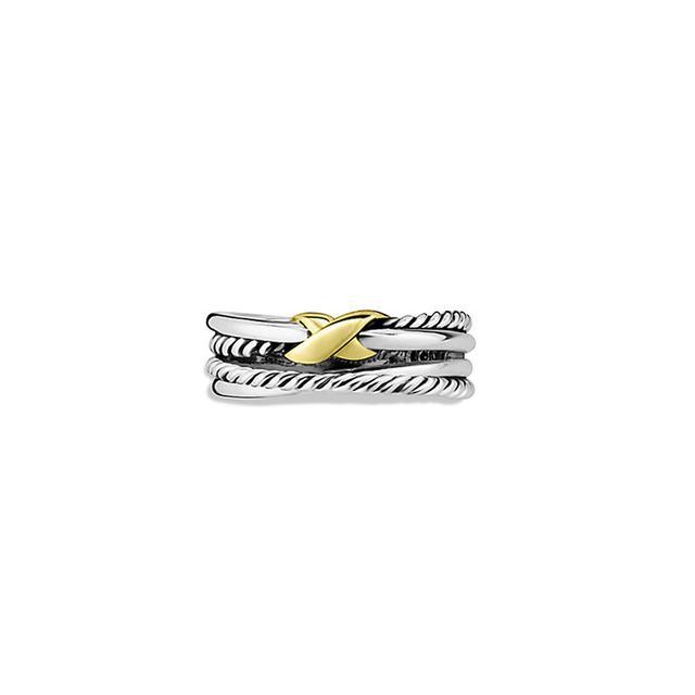 X Crossover Ring with Gold David Yurman