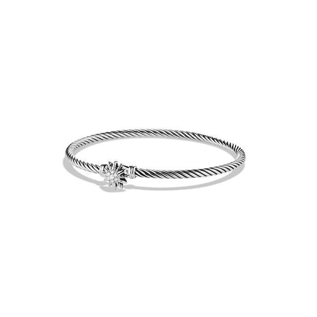 Starburst Single-Station Cable Bracelet with Diamonds David Yurman