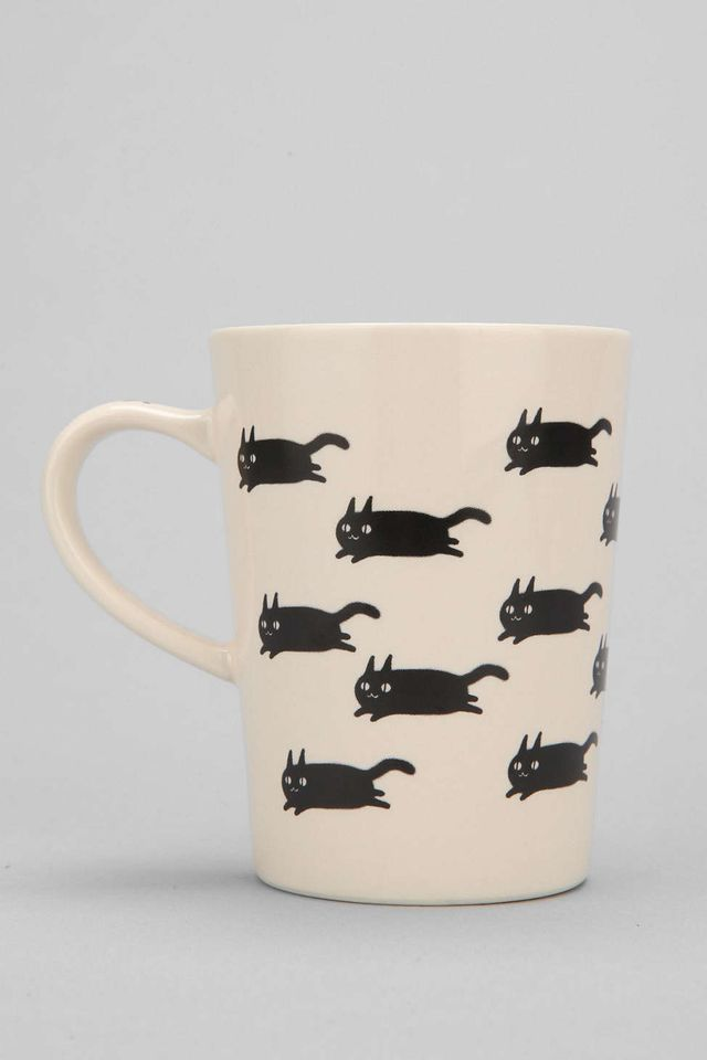 Urban Outfitters Running Cat Mug
