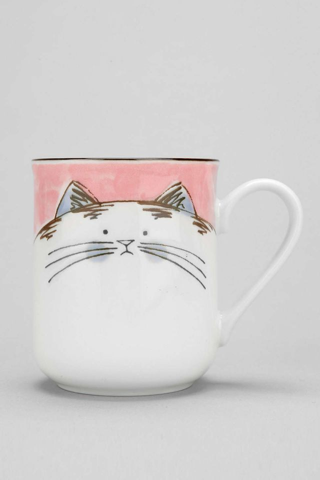 Urban Outfitters Happy Cat Mug