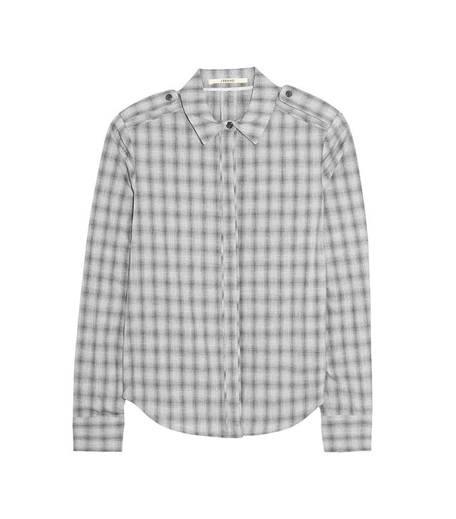 J Brand Vika Plaid Cotton Shirt