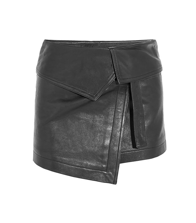 Isabel Marant Hutt Leather Wrap Mini Skirt