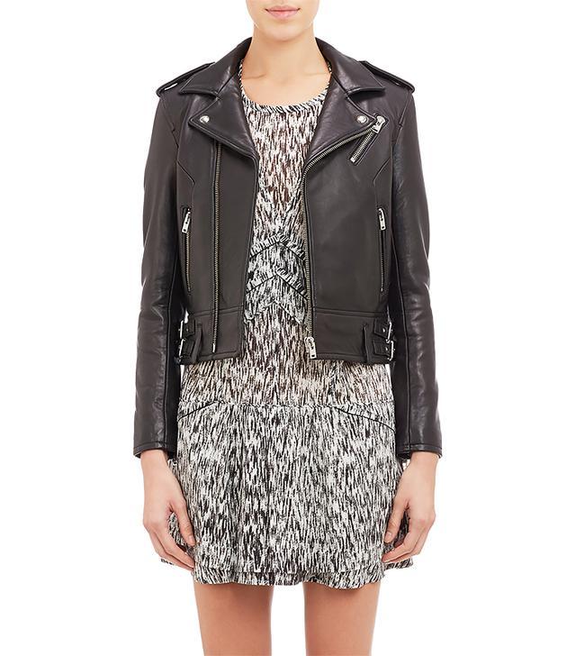 Iro Lambskin Leather Moto Jacket