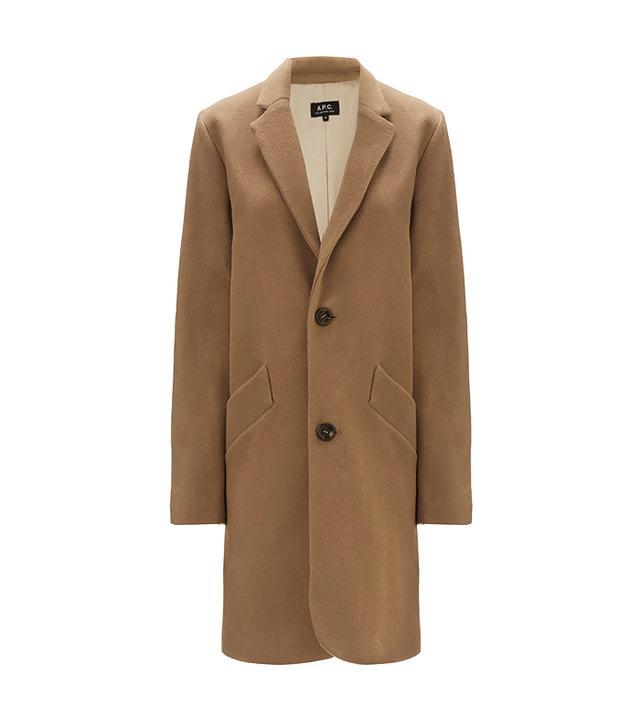 A.P.C. Beige Wool Coat