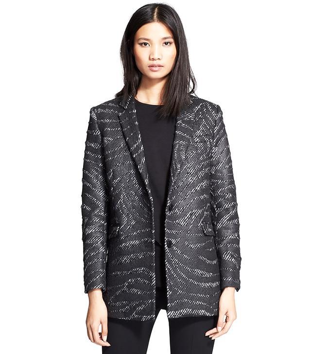 The Kooples Textured Zebra Jacquard Coat