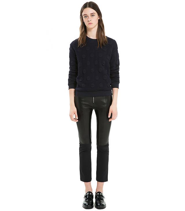Sandro Paloma Leather-Look Combo Leggings