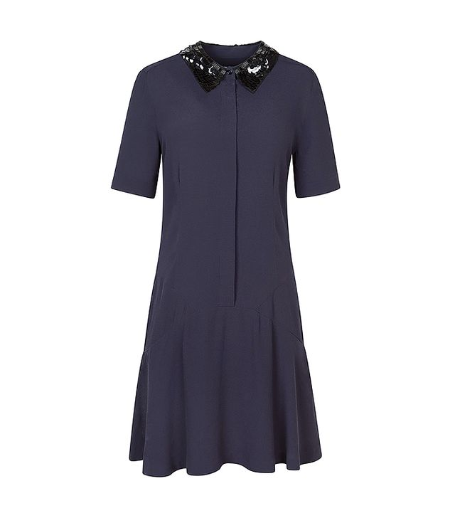 Sandro Rikka Navy Shirt Dress