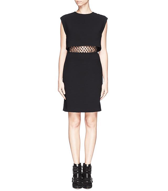 Sandro Roberta Spot Lace Midriff Dress