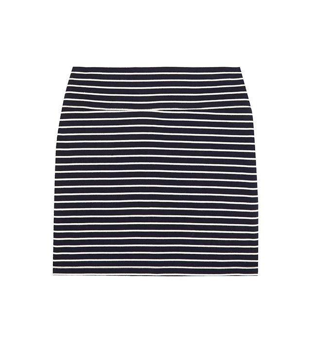 Petite Bateau Striped Cotton-Jersey Mini Skirt