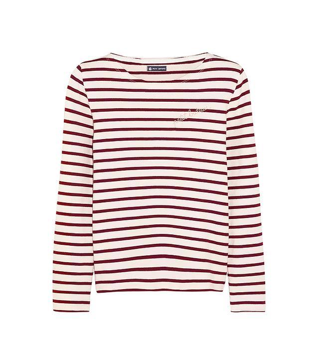 Petite Bateau Mariniere Striped Cotton-Jersey Top