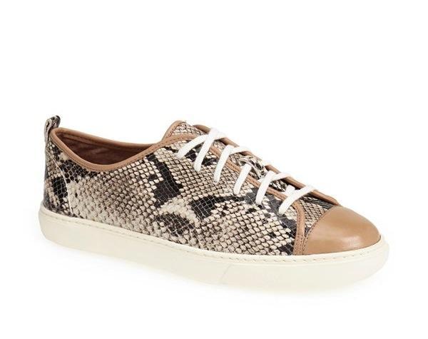 Cole Haan Snake Embossed Leather Sneaker