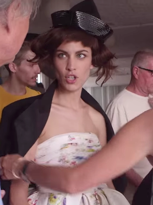 Alexa Chung Makes Quite the Pretty Charlie Chaplin