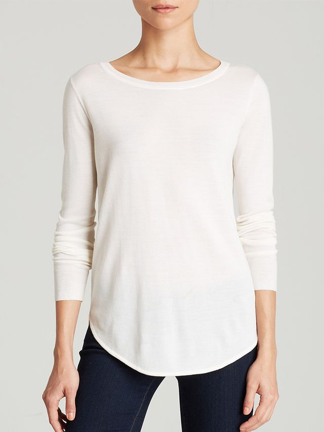 Theory Sweater – Landran Fluidity in Ivory Ice