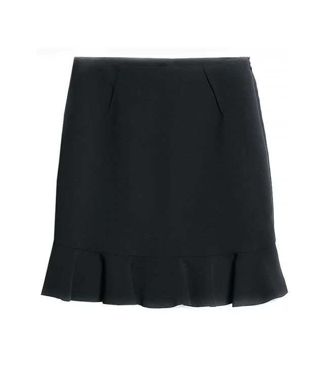 Mango Fluted Hem Skirt