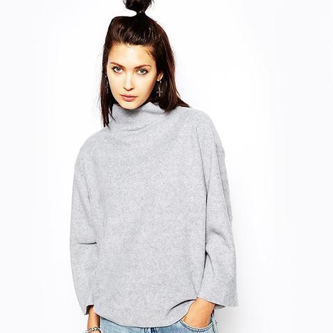 Fleece High Neck Sweater