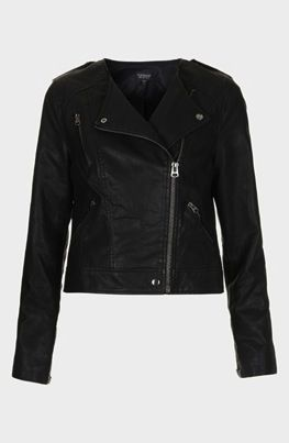 Topshop  Mirabelle Faux Leather Biker Jacket