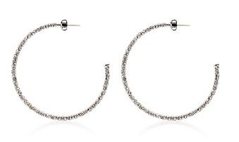 Juicy Couture  Large Pave Hoop Earrings