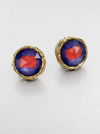 Marc by Marc Jacobs  Two-Tone Button Earrings