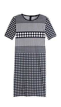 Tibi Alina Geo Jersey Dress